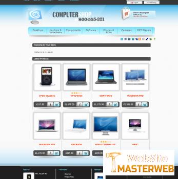 Шаблон Computer shop v.1 + v.2