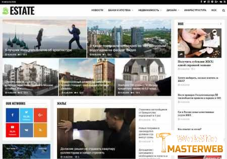 Estate - Автонаполняемый сайт о недвижимости на WordPress