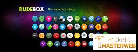 Красочные иконки русских социальных сетей