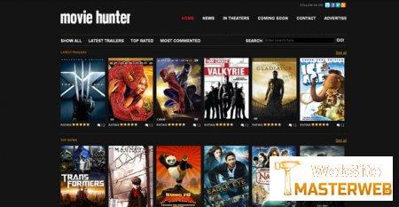 Главная страница онлайн кинотеатра в html